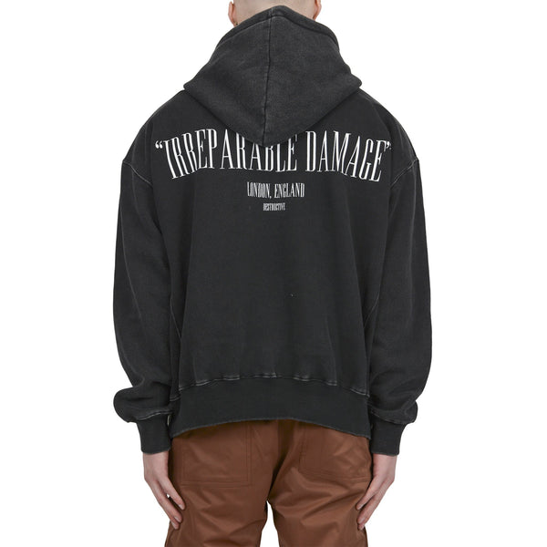 IRREPARABLE DAMAGE HOODIE - WASHED BLACK - Destructive