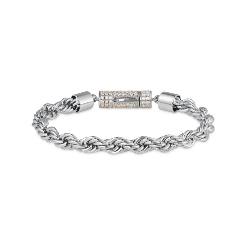 6MM ROPE BRACELET - WHITE GOLD - DSRCV