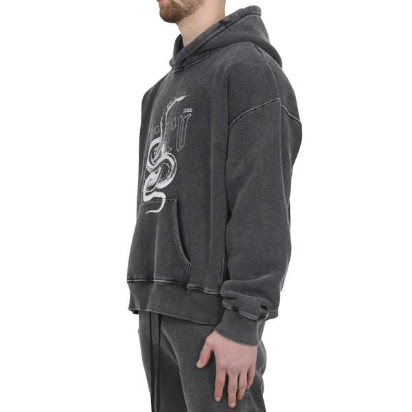 SNAKE HOODIE - WASHED GREY - Destructive