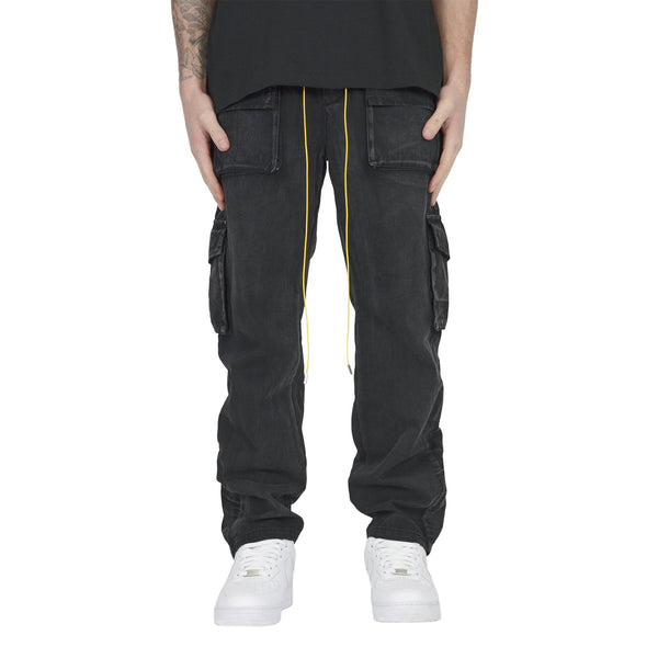 SNAP CARGO PANT - WASHED BLACK - Destructive