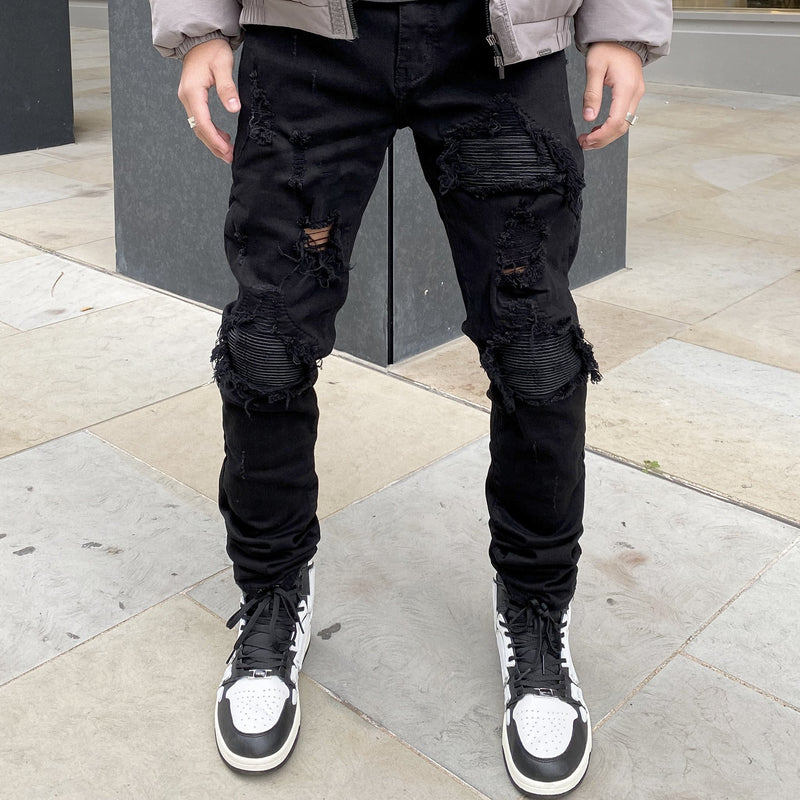 BIKER DENIM - JET BLACK