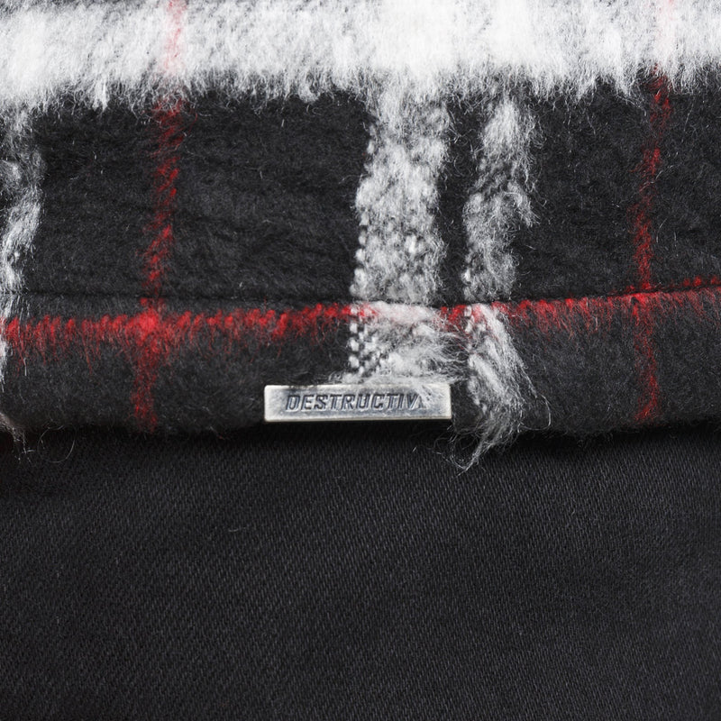 MOHAIR SHIRT - RED / BLACK - DSRCV