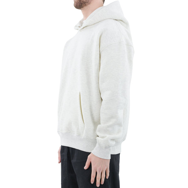 BUTTON HOODIE - WHITE MARL - Destructive