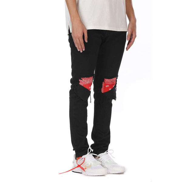 BANDANA PATCH DENIM - RED