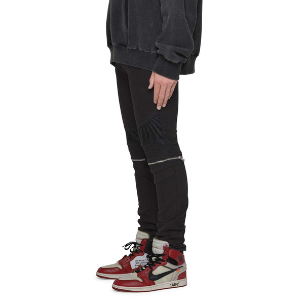BIKER ZIP DENIM - JET BLACK - DSRCV