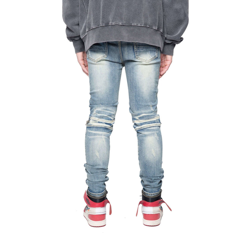 BIKER ZIP DENIM - PALE - DSRCV