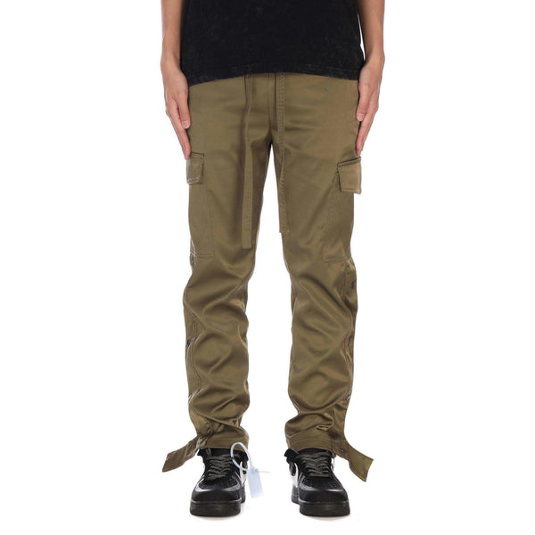 BUTTON CARGO PANTS - OLIVE - DSRCV
