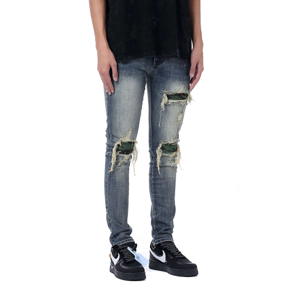 CAMO PATCH DENIM - INDIGO