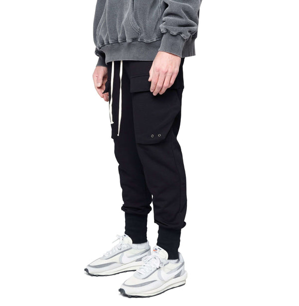 COTTON CARGO PANT - BLACK - DSRCV