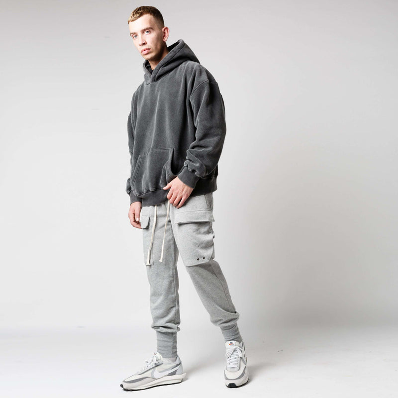 COTTON CARGO PANT - GREY