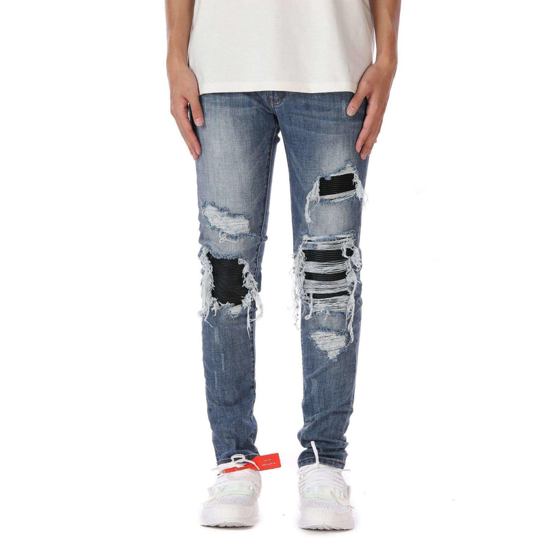 DESTROYED BIKER DENIM - BLUE - DSRCV