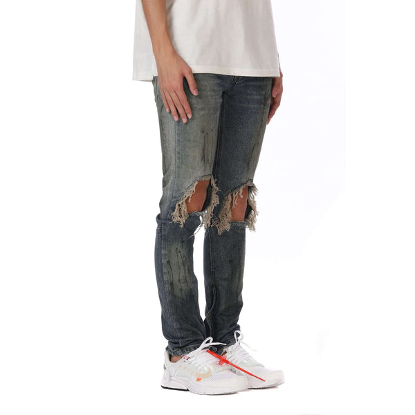 DESTROYED DENIM - SLATE BLUE