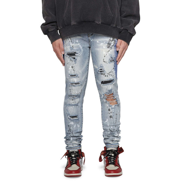 DIAMOND SPLASH DENIM - LIGHT INDIGO - DSRCV