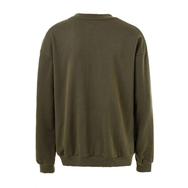 DISTRESSED SWEATSHIRT - GREEN