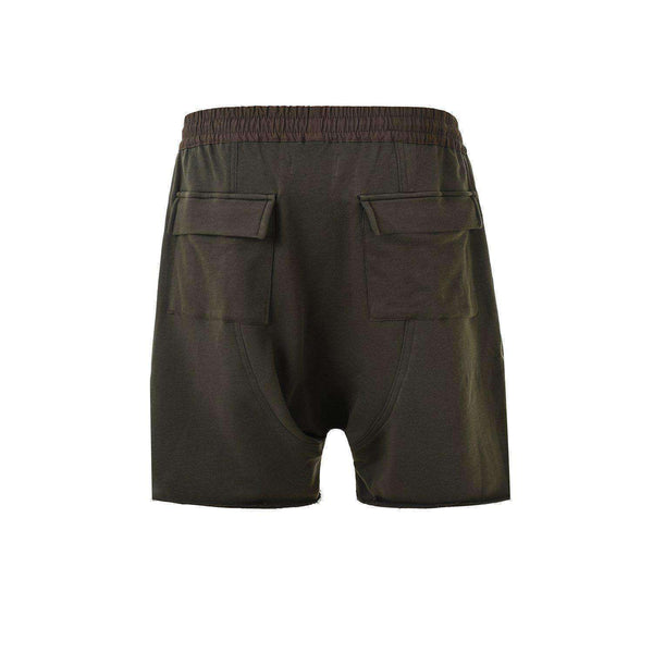 DROP CROTCH ZIPPED SHORTS - GREEN