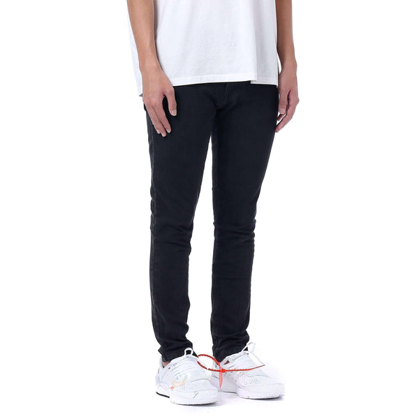 ESSENTIAL ANKLE ZIP DENIM - BLACK