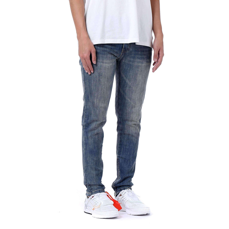 ESSENTIAL ANKLE ZIP DENIM - BLUE