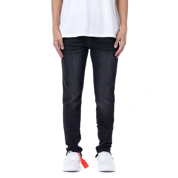 ESSENTIAL ANKLE ZIP DENIM - GREY