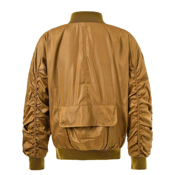 ESSENTIAL BOMBER JACKET - GOLD