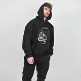SNAKE HOODIE - WASHED BLACK - Destructive