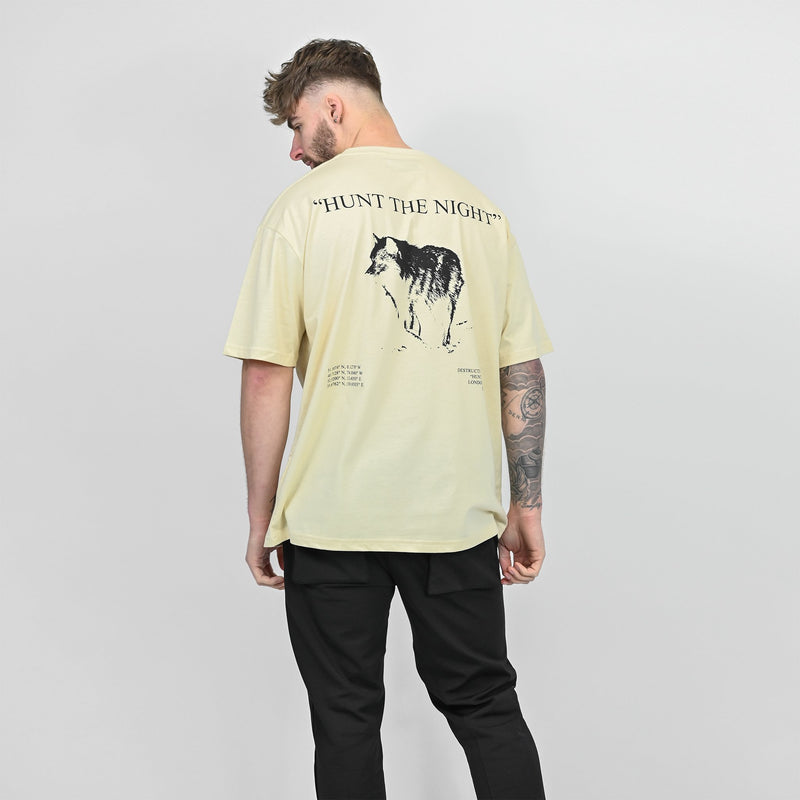 HUNT THE NIGHT TEE - OFF WHITE - Destructive