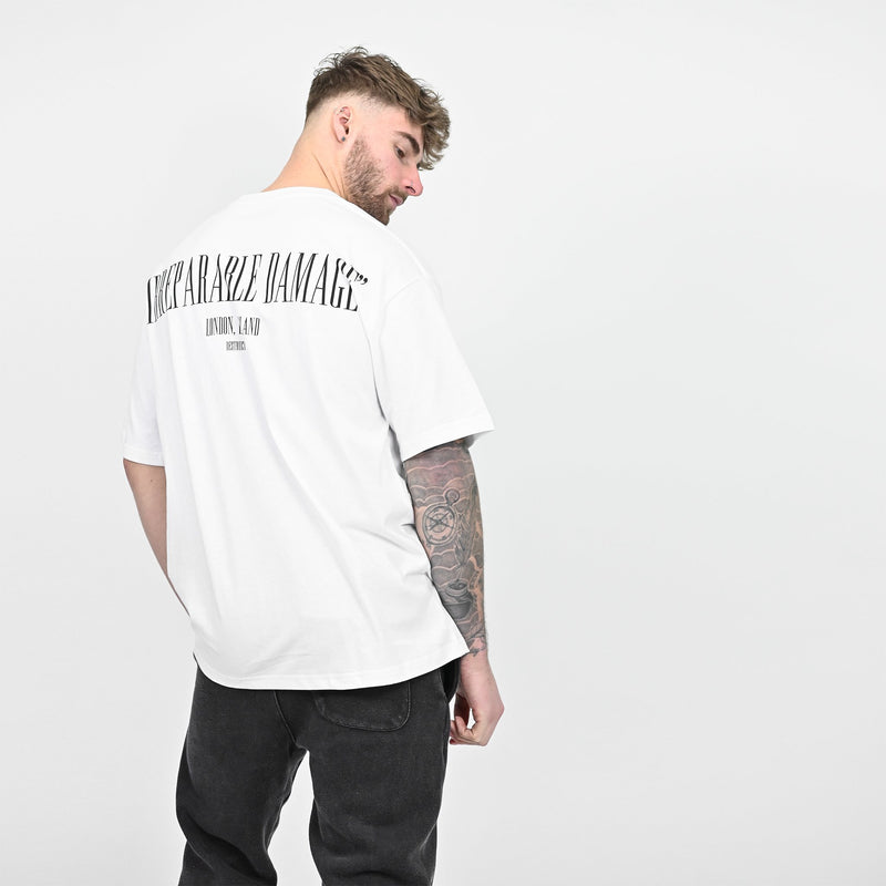 IRREPARABLE DAMAGE TEE - WHITE - Destructive