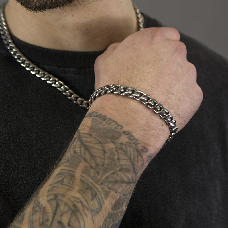 10MM MIAMI BRACELET - WHITE GOLD - DSRCV