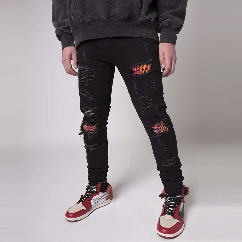 PAISLEY DENIM - JET BLACK - DSRCV