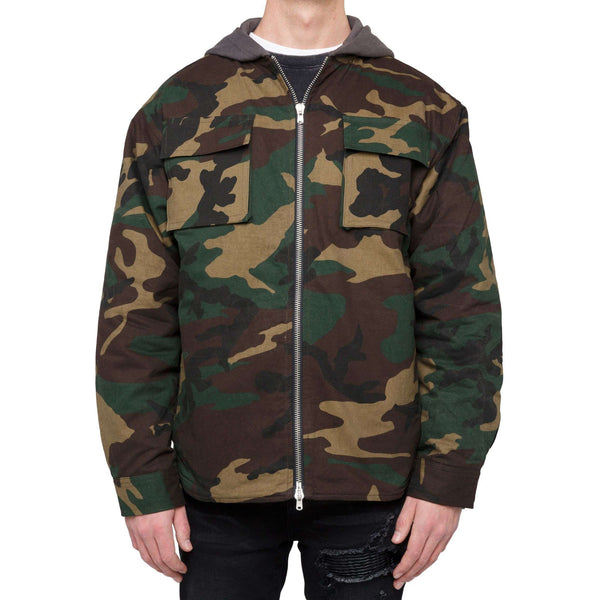 QUILTED ZIP JACKET - CAMO - DSRCV