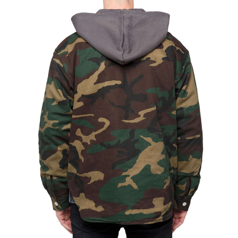 QUILTED ZIP JACKET - CAMO