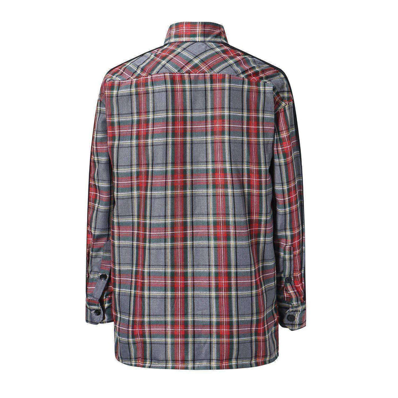 RETRO VELOUR FLANNEL - RED / GREY