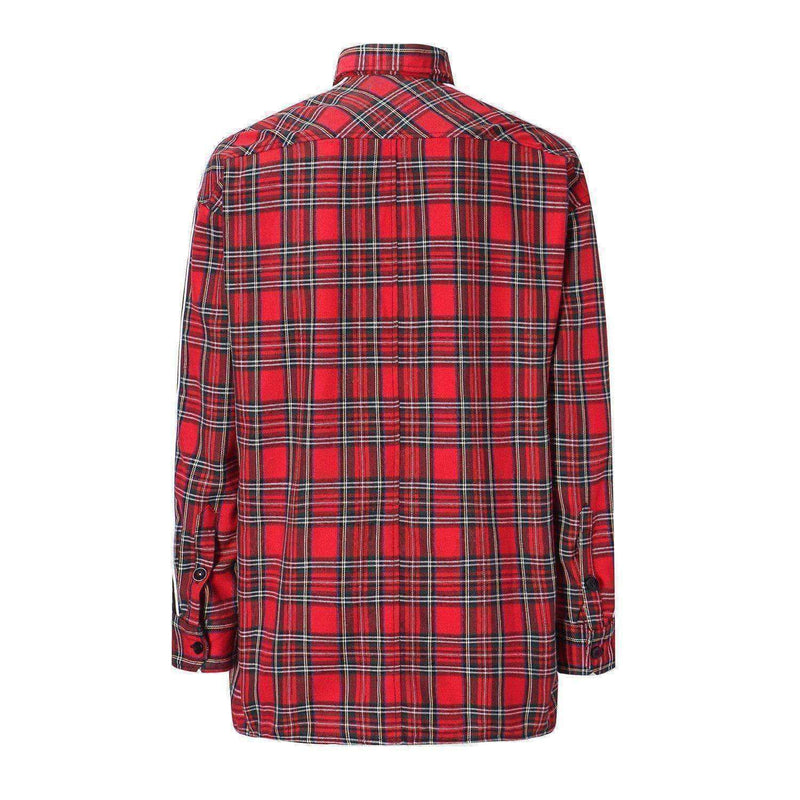 RETRO VELOUR FLANNEL - RED