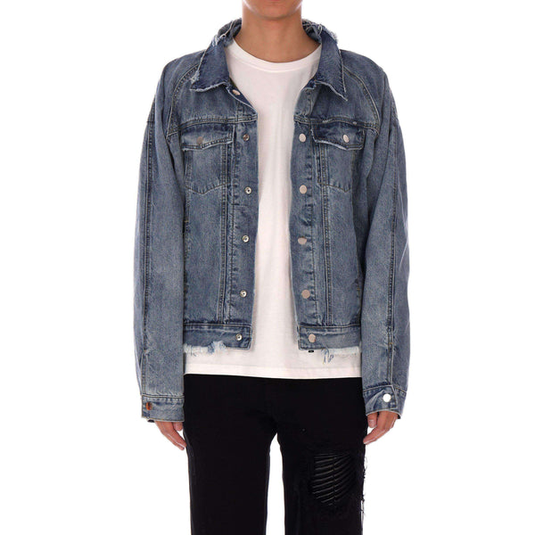 REVERSIBLE DENIM JACKET - BLUE