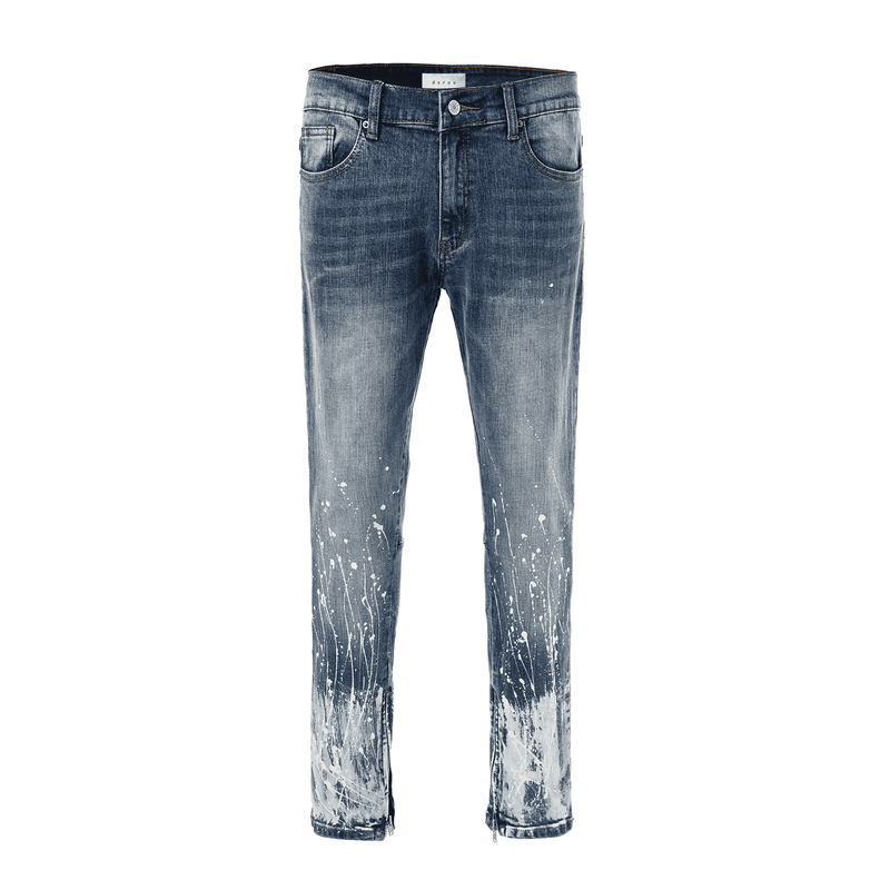 SPLATTER DENIM - BLUE