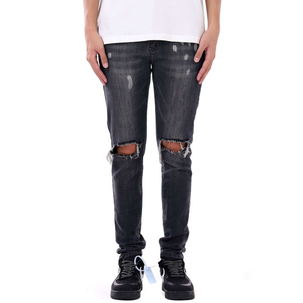 SPLATTER DENIM - GREY