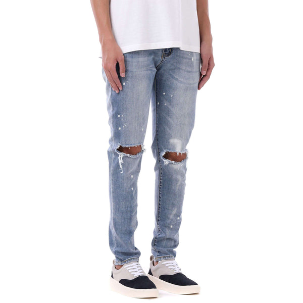 SPLATTER DENIM - INDIGO