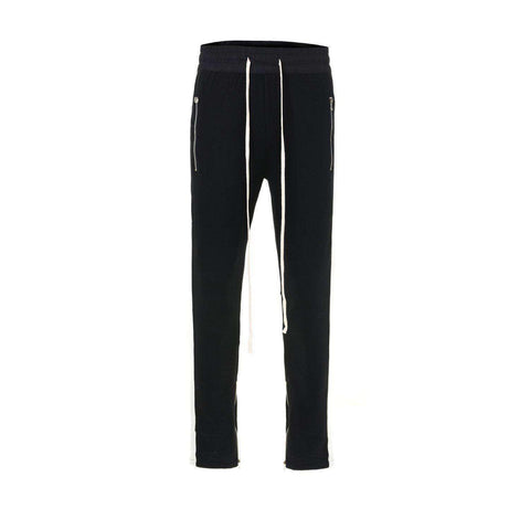 TERRY RETRO PANTS - BLACK / WHITE