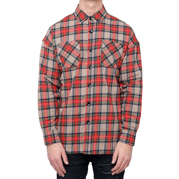 WASHED FLANNEL - RED