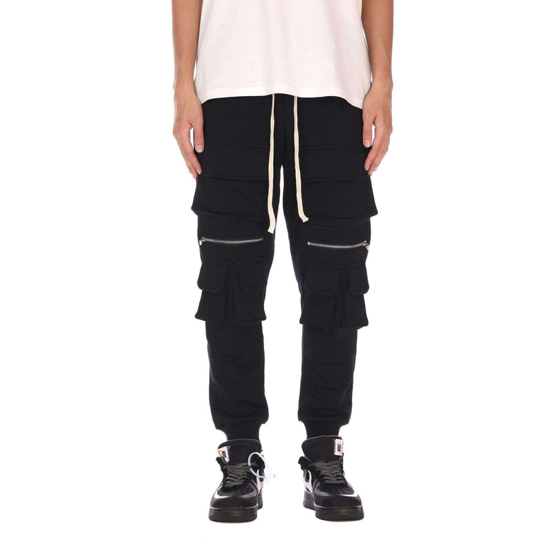 ZIP PANTS - BLACK