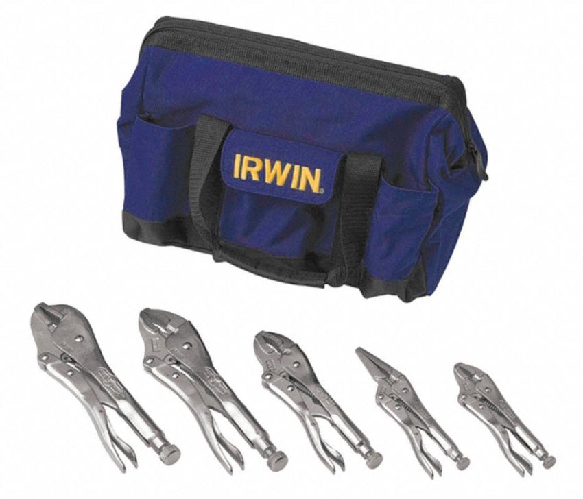Irwin Vise-Grip 5pc  Locking Pliers with Canvas Bag 2077704