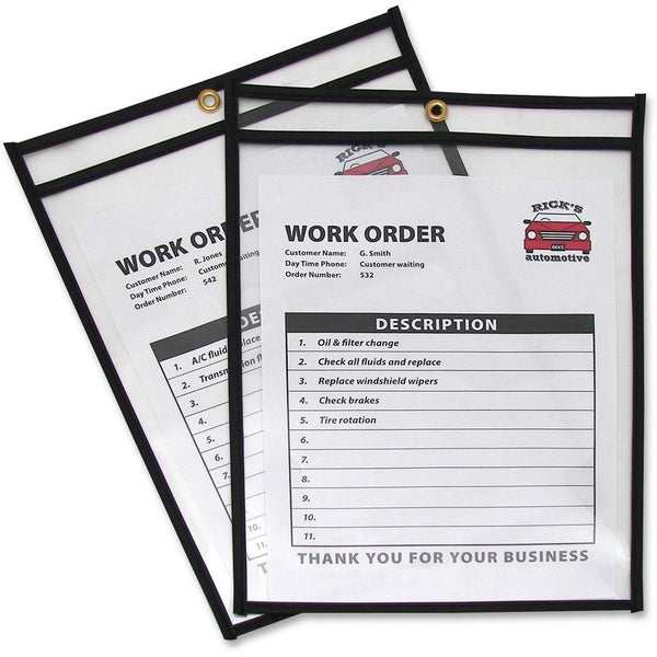 "C-Line Products Inc. 46912 Shop Ticket Holder 25 Pk Black, No Strap 9"" x 12"""