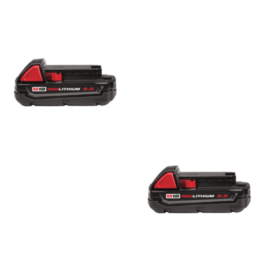 Milwaukee 48-11-1820 2-Pack M18 Red Lithium 2.0Ah Battery Pack