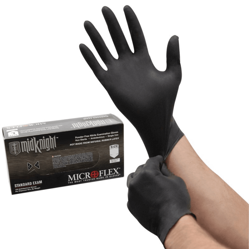 Microflex MIDKNIGHT disposable Nitrile exam gloves MK-296