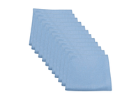 SM Arnold 12 Pack 28-859 16x16 Blue Microfiber Glass Towel 290GSM