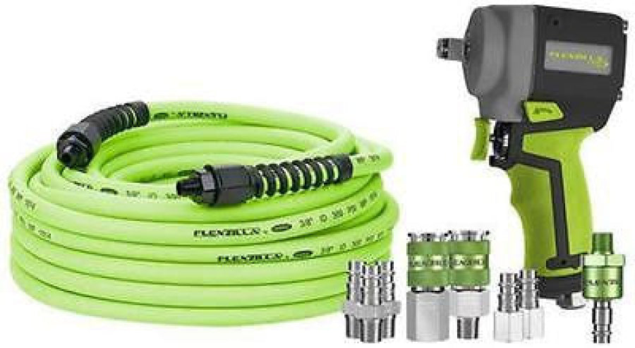 "Legacy Flexzilla Pro 3/8"" Impact Airtool Starter Kit w/ 50"" Hose & Air Couplers"