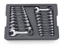 Gearwrench 81903 20 Pc. SAE / Metric Stubby Combination Wrench Set