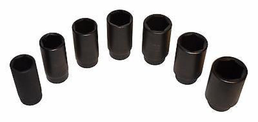 Cal-Van 968 Seven Piece Front Wheel Drive Axle Nut Socket Set with Case