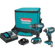 Makita 2 Pc. 18V Compact Lithium-Ion Cordless Combo Kit CT225R