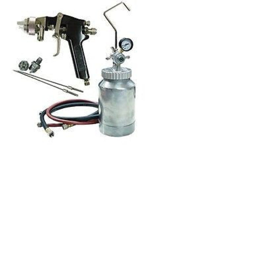 ATD 2-qt Pressure Pot With Paint Sprayer 1.2, 1.5, 1.8 mm Nozzles 16843