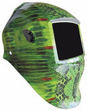 Nesco Variable Shade Auto-Darkening Welding Helmet, Green Snakeskin 4659